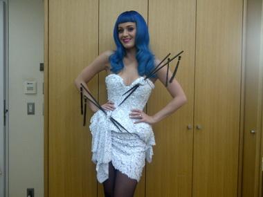 Кэти Перри с синими волосами